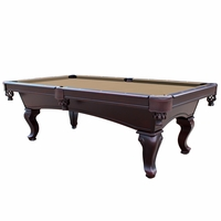 Monterey Queen Anne 8-Ft Slate Pool Table w/Camel Tan Felt in Mahogany Finish