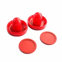 Carmelli Air Hockey 3-3/4-in Strikers & 2-7/8-in Puck Replacement Set in Red