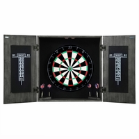 Carmelli Drifter Solid Wood Steel Tip Dartboard & Cabinet Set in Reclaimed Pine Finish