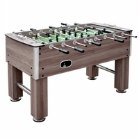 Carmelli Driftwood 56-in Foosball Soccer Table with 4 Stainless Steel Drink Holders