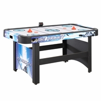 Carmelli Face-Off 5-Ft Air Hockey Game Table with Electronic Scoring in Black & Blue