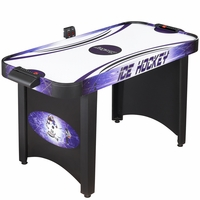 Carmelli Hat Trick 4-Ft Air Hockey Table w/Electronic & Manual Scoring in Black & Purple