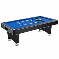Carmelli Hustler 7-Ft Pool Table with Blue Felt & Ball Return in Black Finish