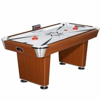 Carmelli Midtown 6-ft Air Hockey Table with Electronic Scoring in Cherry Wood Finish