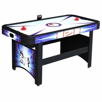 Carmelli Patriot 5-Ft Air Hockey Table w/Electronic Scoring in Black & Blue