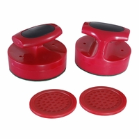 Carmelli Pro-Series Air Hockey 4-in Strikers & 3-in Puck Replacement Set in Red