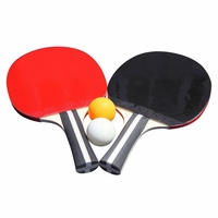 Carmelli Single-Star Control Spin Table Tennis 2-Player Ping-Pong Racket and Ball Set