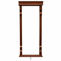 Carmelli Vintage Solid Wood Wall Billiard Pool Cue Rack in Antique Walnut Finish