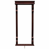 Carmelli Vintage Solid Wood Wall Billiard Pool Cue Rack in Mahogany Finish