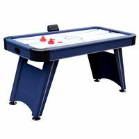 Carmelli Voyager 5-Ft Air Hockey Table in Black & Blue with Silver Accents