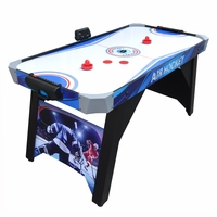Carmelli Warrior 5-Ft Air Hockey Table with Electronic and Manual Scoring