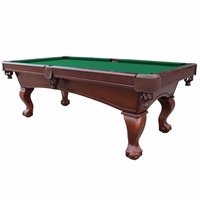 Carmelli Westport 8-Ft Slate Pool Table with Green Felt in Antique Walnut Finish