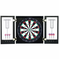 Carmelli Winchester Self-Healing Steel Tip Dartboard & Cabinet Set in Black