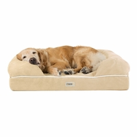 Chester Large Solid Memory Foam Pet/Dog Bed with Beige Removable Cover & Non-Slip Bottom
