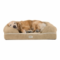 Chester Large Solid Memory Foam Pet/Dog Bed with Khaki Removable Cover & Non-Slip Bottom