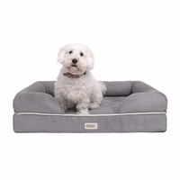 Chester Medium Memory Foam Pet/Dog Bed, Grey Removable Cover & Non-Slip Bottom