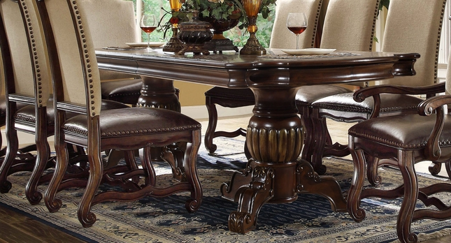 Coruna Old World 80 Quot 95 Quot Double Pedestal Dining Table