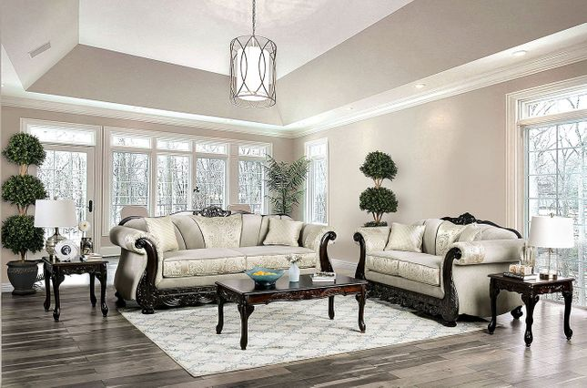 Doncaster Traditional Ivory Off White Living Room Set ...