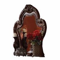Dresden Ornate Antique Style Carved Beveled Mirror in Cherry Oak Finish