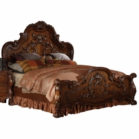 Dresden Traditional Luxury Eastern King Panel Bed in Cherry Oak Finish