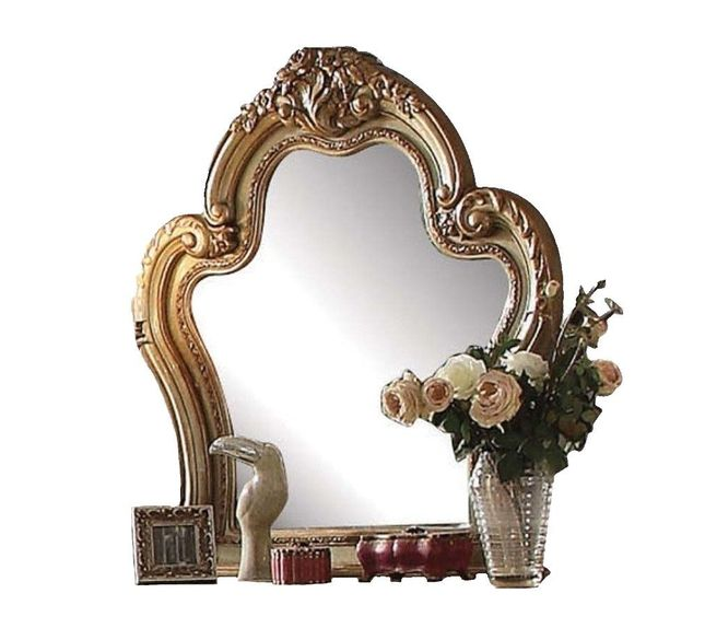 Dresden Traditional Luxury Ornate Dresser Mirror In Antique Gold