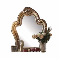 Dresden Traditional Luxury Ornate Dresser Mirror in Antique Gold Patina Finish