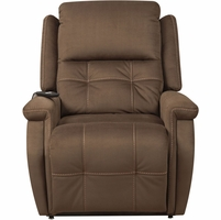 Fling Coffee Brown Microfiber Upholstery Lift Chair w/ Dual Motor & Back-up Battery