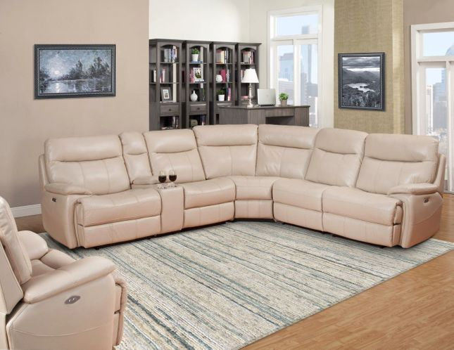 Dylan Transitional Power Recline Modular Sectional Sofa in