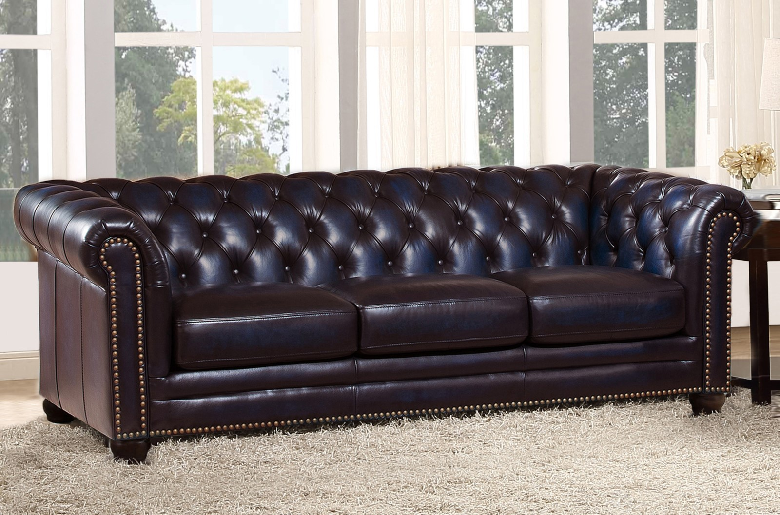 Dynasty 100 Genuine Leather Chesterfield Sofa Amp Loveseat