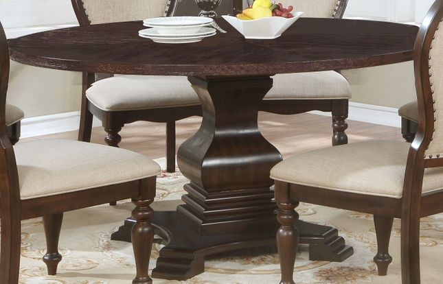 Edenburgh Traditional 60 Solid Wood, 60 Round Pedestal Dining Table