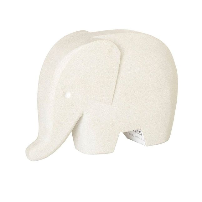 Elephant Decor Serene Mid-Century Design Small Hand-Carved Sand Stone Figurine