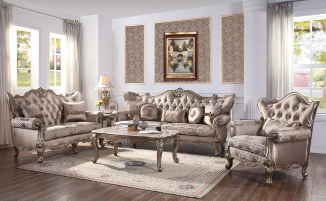 Vilagio Victorian Style Formal Living Room Set Sofa Loveseat Optional Chair