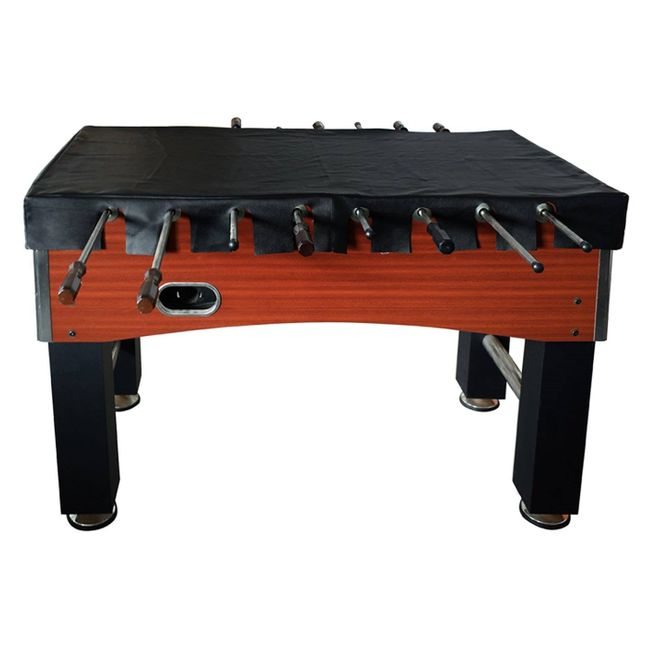 Carmelli Foosball 56-in Table Top Cover, Black Faux Leather w/Scalloped Edges