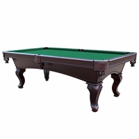 Monterey Queen Anne 8-Ft Slate Pool Table with Green Felt in Mahogany Finish