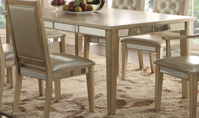 Halesworth 72 90 Dining Table With Mirror Accents In