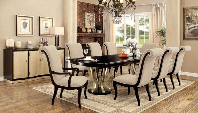 Hollywood Hills 5 Pc 84 106 Dining Table Set In Dark Espresso