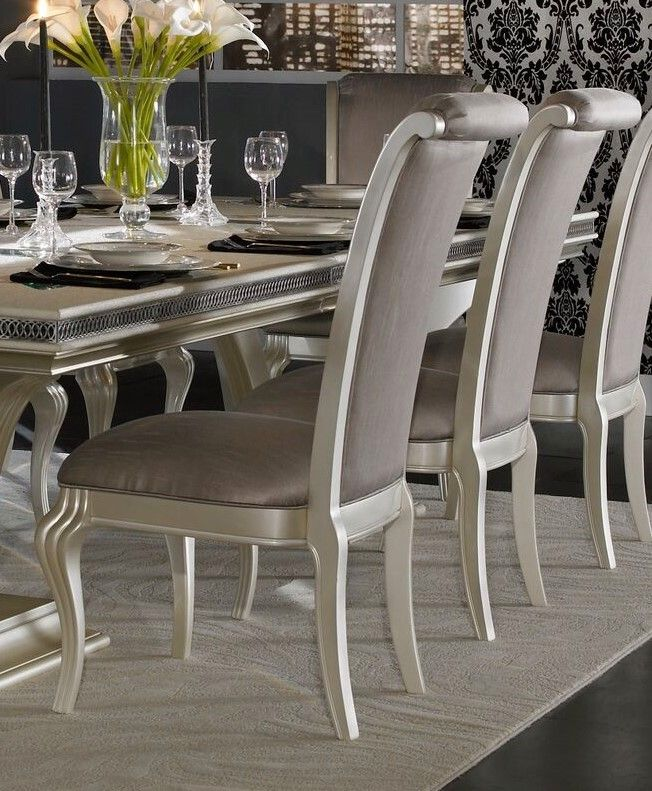 """Hollywood Swank 5-Pc 72"""" Round Glass Top Dining Table Set ..."""