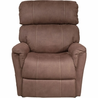 Eureka Steel Stonewash Amber Lift Chair with USB in Brown Faux Leather Upholstery