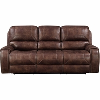 New Home Meridian Prime Resources Jennings Collection Power Reclining Sofa,Brown