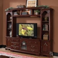 "Jupiter Traditional 59"" Entertainment Media Center in Cherry Finish"