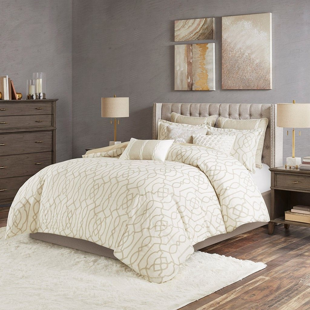King Size New Clarity Comforter Set Neutral Madison Park