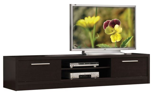 Larkin Contemporary TV Stand with 2 Doors & 2 Media Compartments in Espresso
