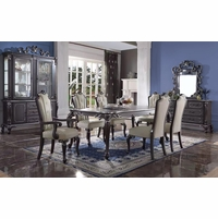 Luxury Formal Dining Room Set w/ Cabriole Legs & Upholstered Chairs