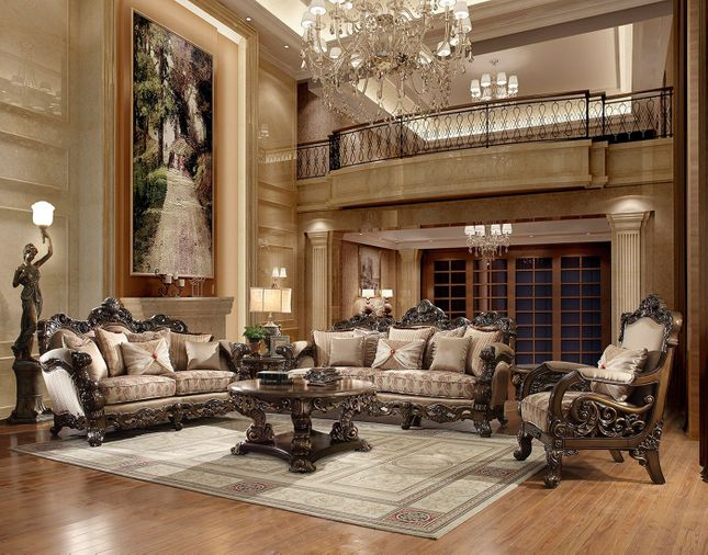Luxury Formal Living Room Furniture W Carved Wood Hd 481