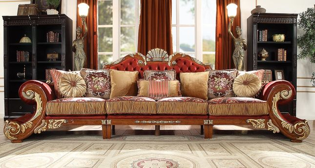 Luxury Upholstered Formal Living Room Furniture Traditional ...