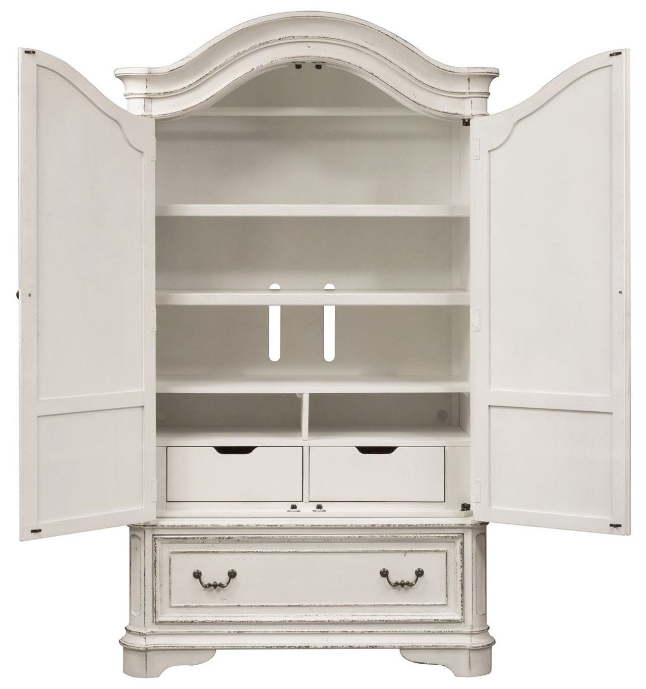 Magnolia Armoire w/Framed Drawer Fronts & Antique Brass ...
