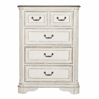 Magnolia Traditional 4-Drawer Kids Bedroom Chest in Antique White Finish