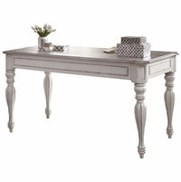 Magnolia Traditional Antique White Writing Desk with Flip down Keyboard Drawer