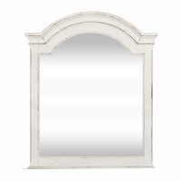 Magnolia Traditional Scrolled Mirror with Arched Frame in Antique Finish