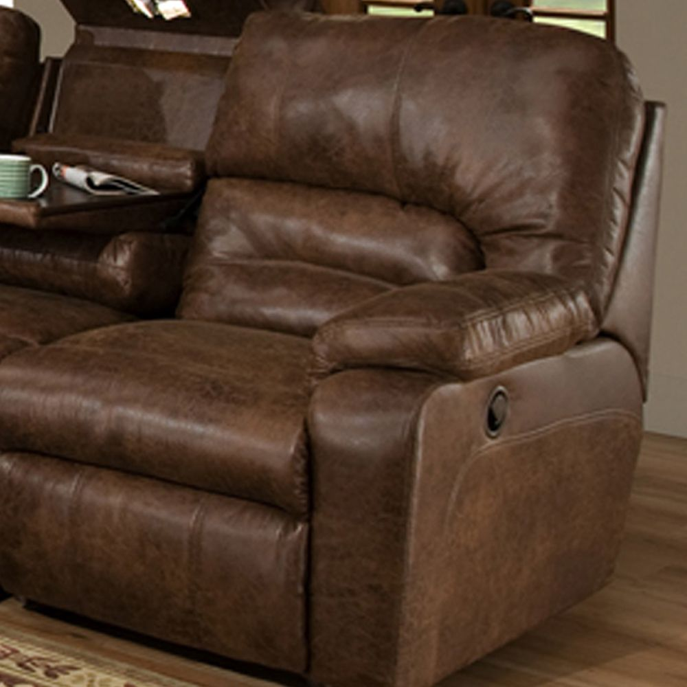 Casual Brown Motion Reclining Living Room Set w/ Storage ...